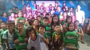Bags and School Kits distribution at International Baptist Church in Calapandayan Subic Zambales