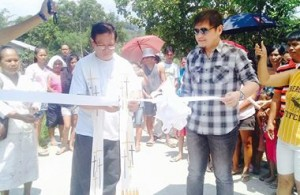 Blessing and Ribbon Cutting of the Newly Concreted Sitio Bukid Road Brgy Calapacuan Subic with Mayor Jay Khonghun (1)