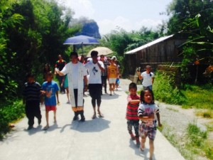 Blessing and Ribbon Cutting of the Newly Concreted Sitio Bukid Road Brgy Calapacuan Subic with Mayor Jay Khonghun (2)