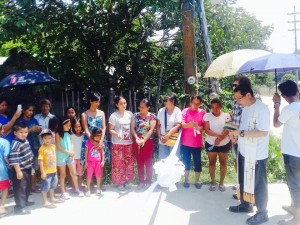 Blessing and Ribbon Cutting of the Newly Concreted Sitio Bukid Road Brgy Calapacuan Subic with Mayor Jay Khonghun (7)