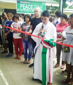 Blessing and turn Over of Covered Court and 3 Classroom Building Matain Elementary School (1)