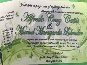 Congratulations Alfred and Maricel (1)