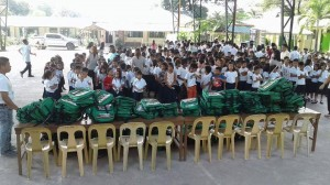 Distribution of Bags and School Kits in JFK SPED center and Pamatawan Elementary Schoo