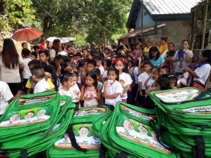 Distribution of Bags and School Kits in Kinabuksan Cawag and Mapanao Asinan Proper Elementary School