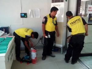 Installation of Fire Extinguishers at Municipality of Subic,Zambales (1)