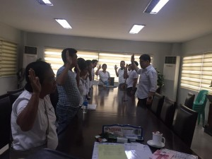 Oath taking..Newly elected Officers of Bahay kubo Neighborhood Association (1)