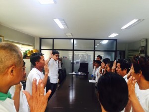 Oath taking..Newly elected Officers of Bahay kubo Neighborhood Association (2)