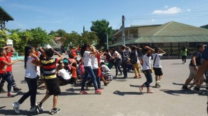 Simultaneous Earthquake Drill at Subic Central School (1)