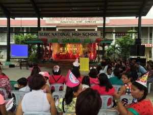 Subic National High School Acquaintance Party and Oath taking of Officers (17)