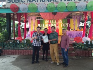 Subic National High School Acquaintance Party and Oath taking of Officers (18)