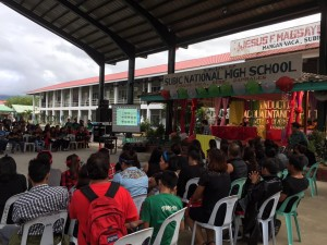 Subic National High School Acquaintance Party and Oath taking of Officers (9)