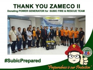 Zameco II donates Power Generator to the Subic Fire and Rescue Team (1)