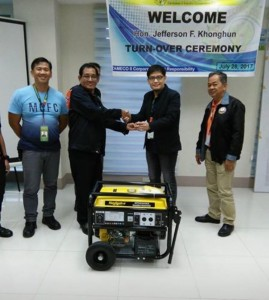 Zameco II donates Power Generator to the Subic Fire and Rescue Team (3)