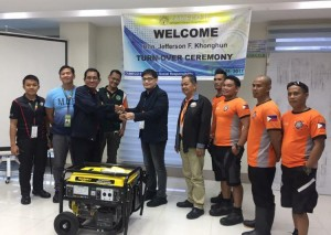 Zameco II donates Power Generator to the Subic Fire and Rescue Team (4)