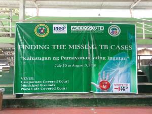 """Finding the Missing TB Cases """"Kalusugan ng Pamayanan ay ating Ingatan"""" Day 1"""
