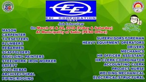 Local Job Hiring of EEI Corporation Subic PESO Office..Tuloy tuloy Ang Serbisyo