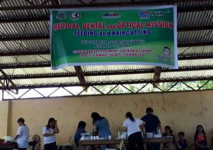 MEDICAL, DENTAL & OPTICAL MISSION WITH HAIRCUTTING AND FEEDING @ BRGY. CAWAG