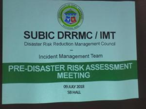 Pre-Disaster Risk Assessment (PDRA) Meeting Regarding Typhoon Gardo