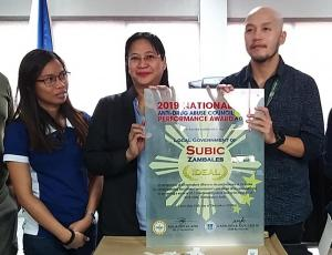 LGU Subic Awardee as 2019 National Anti-Drug Abuse Council Performance Award