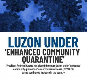 Luzon Enhanced Community Quarantine and Directive from the Province of Zambales