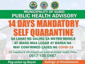 Magiikot ikot ang CoViD-19 Subic Task Force sa Lahat ng Barangay