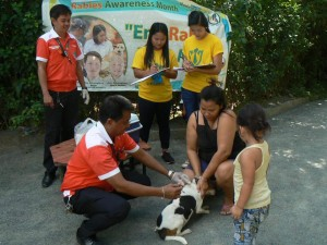 Animal Anti Rabies Vaccination in Malinta Asinan Proper and Ilwas project of Mayor Jay Khonghun and Municipal Agriculture Office