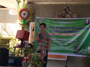 Persons with Disability Organization of Subic Zambales, Year end Assembly 2017-2